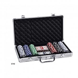 300 PC Aluminum Poker Clip Case
