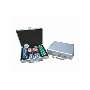 100 PC Aluminum Poker Clip Case